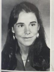 Jane Timken's Walnut Hills High School yearbook photo in 1985, her senior year.