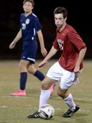 Asheville High's Will Jones (21) is the Citizen-Times All-WNC Boys Soccer Player of the Year.