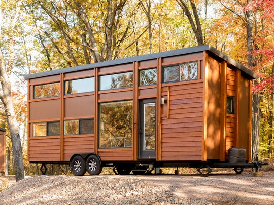 The ESCAPE Traveler XL at the Canoe Bay ESCAPE Village is a trailer-mounted tiny house.