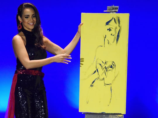 Speed painting was the talent of Miss Wilmington Joanna