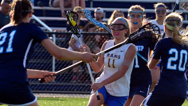 Kennard Dale's Emmie Dressel (11) was named the Most Outstanding Player for the 2017 Y-A League season by the Y-A League Girls' Lacrosse Coaches Association.