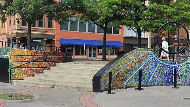 Riverwalk in downtown Binghamton