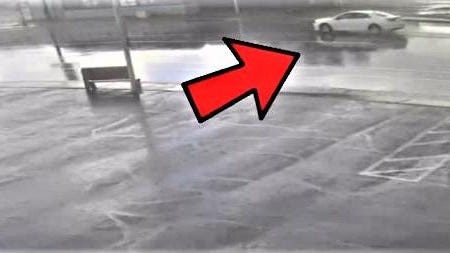 Police are asking for help identifying this white sedan that fled the scene of a Friday accident that claimed the life of Timothy Chambers, 60.