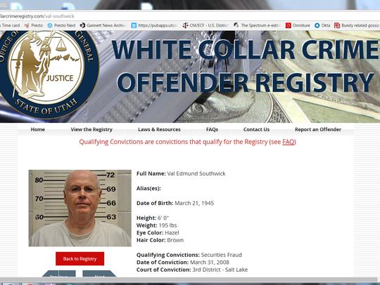 Val Southwick's entry on Utah's White Collar Crime