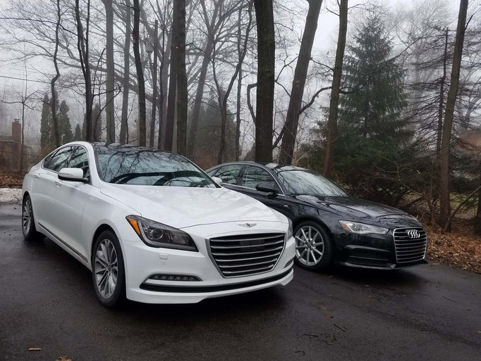 When a midsize Genesis G80 and an Audi A6 became available