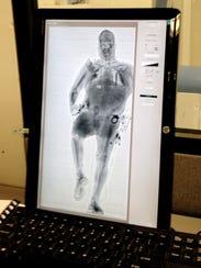 Deputy's image in scanner