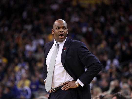 FILE – Nate McMillan, shown here in 2012, coaching the Portland Trail Blazers.