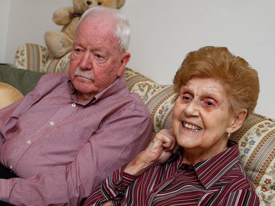 Verne and Alberta Roszel are shown in their Lakewood home on their 71st wedding anniversary Thursday, February 8, 2018.