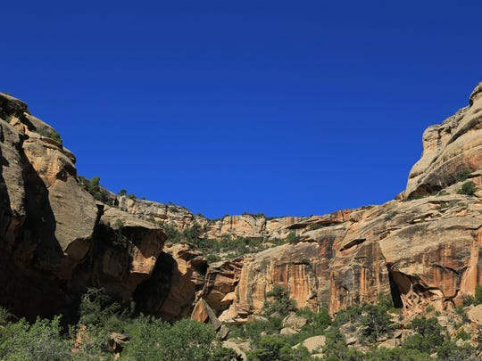 The landscape is constantly changing along Rim Rock