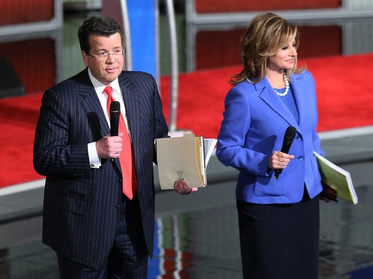 Neil Cavuto and Maria Bartiromo, moderators for the