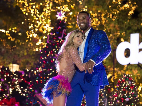 Third-place finishers Lindsay Arnold. left, and Calvin
