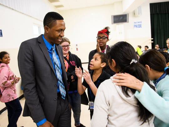 Edward Anderson, principal of Tanglewood Middle School,