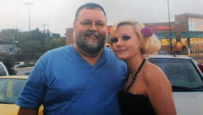 Shasta Himelrick poses for a photo with her father in a picture from her high school days.