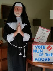 Tom Johns of Avondale, Pennsylvania dressed as a nun