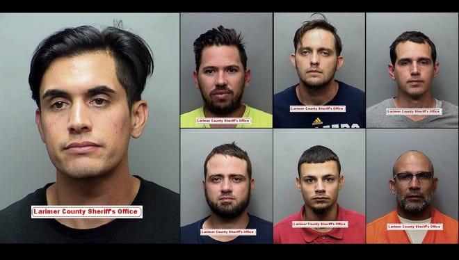 Clockwise from top left: Mario Garcia, Hector Perez, Ronald Sinigaglia, Raciel Serrano, Sergio Sanchez Sr., Sergio Sanchez Jr., Ruddie Sinigaglia-Lopez.