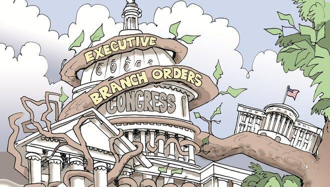 Executive branch orders choke Congress.
