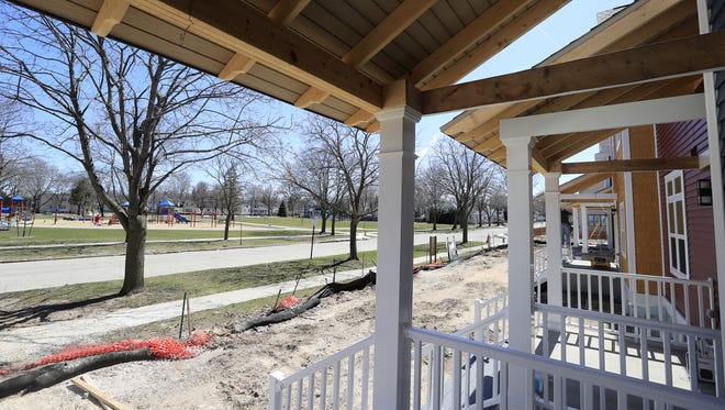 NeighborWorks Green Bay is building five townhouses across from Navarino Park. The $130,000 townhomes are priced to ease a lack of affordable housing in downtown Green Bay.