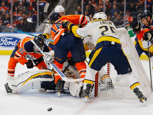 NHL: Nashville Predators at Edmonton Oilers