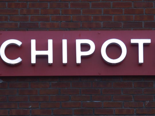The Chipotle restaurant logo is seen in Chantilly, Virginia on January 2, 2015. AFP Photo/PAUL J. RICHARDS (Photo credit should read PAUL J. RICHARDS/AFP/Getty Images)