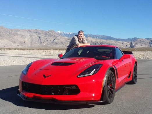 the detroit news auto critic henry payne poses with - Corvette 2015 Z06 Red