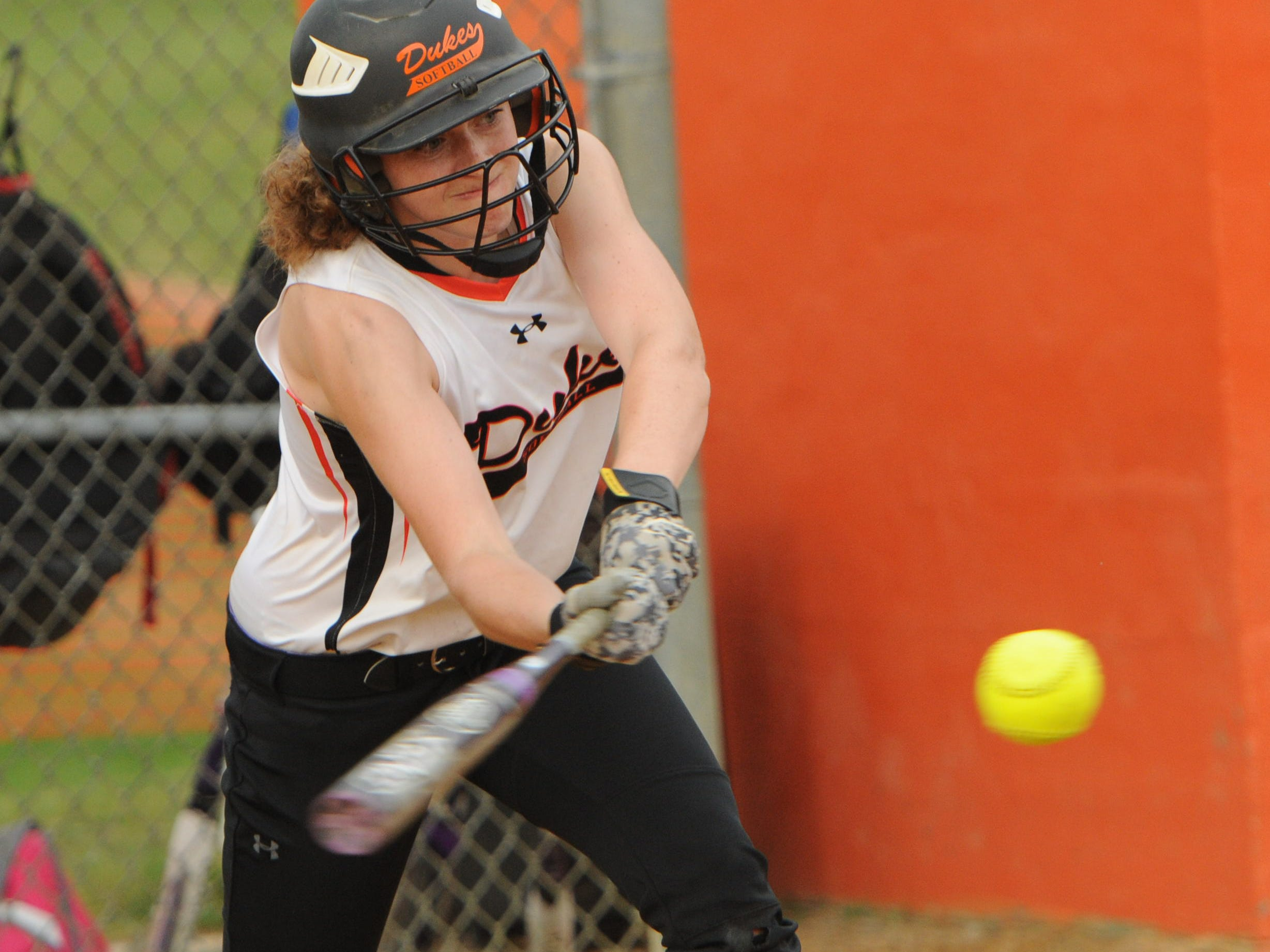 Marlboro's Melissa Sadler hits during Tuesday's game versus Highland at Marlboro.