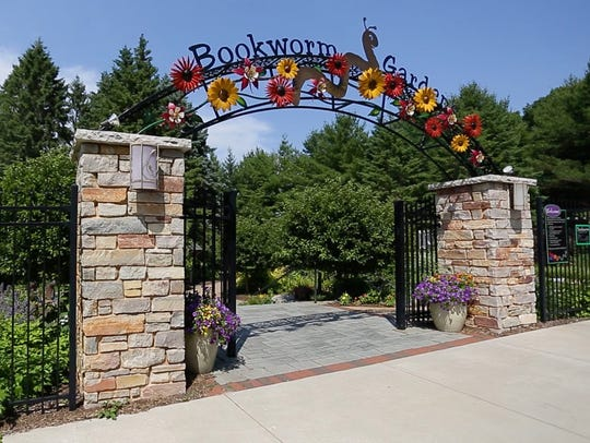 The entrance to Bookworm Gardens Wednesday July 5,