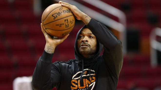 P.J. Tucker knows his name is out there. He knows the NBA trade deadline is about a month away.