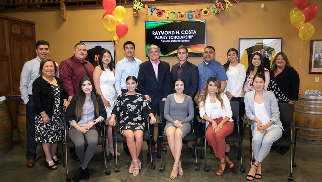 A local McDonald's owner has given 13 Monterey County students over $55,000 in scholarships on Wednesday.