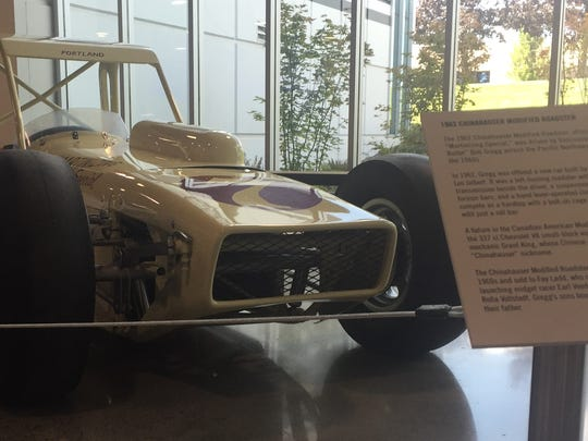 The Martinizing Special on display at the World of Speed museum in Wilsonville.