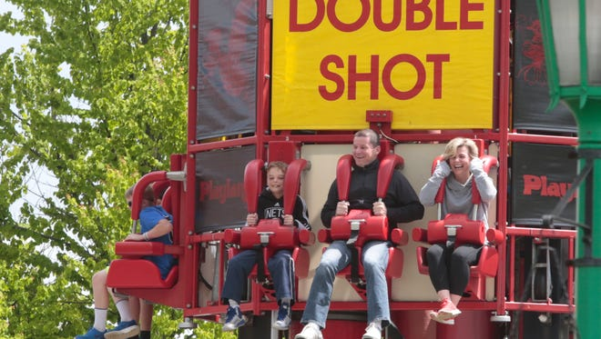 Audra Croke of Riverdale, right, decided to enjoy Rye Playland on Mother's Day with her family on May 8, 2016.