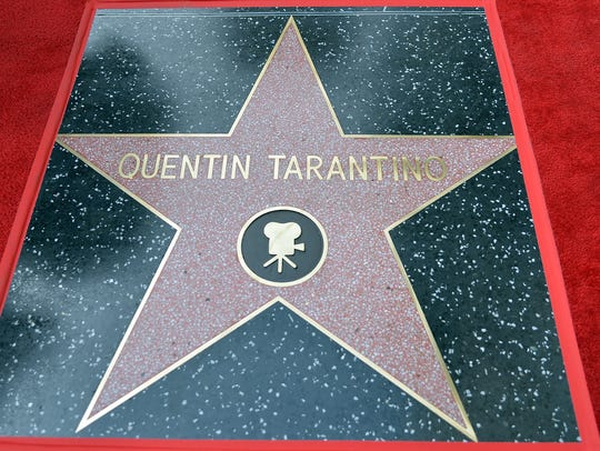 Director Quentin Tarantino's star on Hollywood Walk