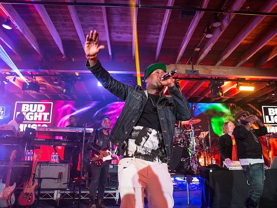 Talib Kweli performs with The Roots at the South by Southwest festival in Texas earlier this year.