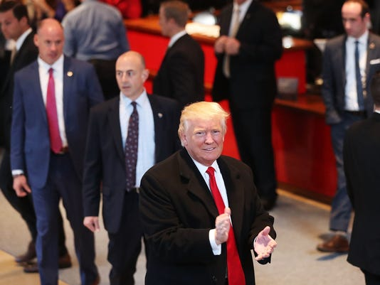 Donald Trump Holds Meeting At The New York Times