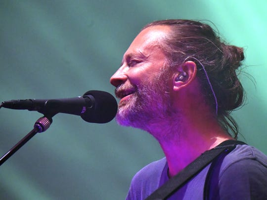 NEW YORK CITY, NY - Thom Yorke of Radiohead performs at Madison Square Garden on July 11, 2018 in New York City, NY.  (Photo by Jeff Kravitz/FilmMagic) ORG XMIT: 775190308 ORIG FILE ID: 996868092