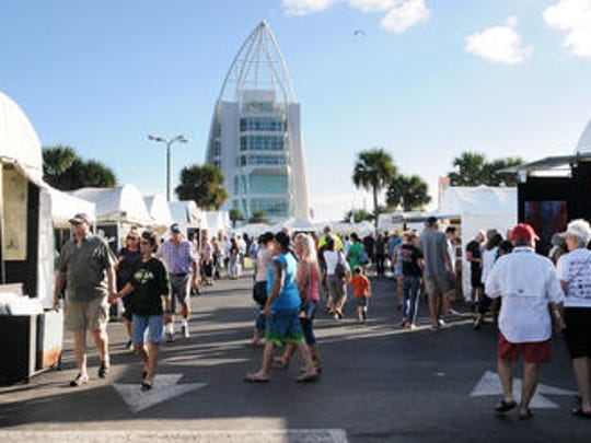 The Space Coast Art Festival had been held at Port