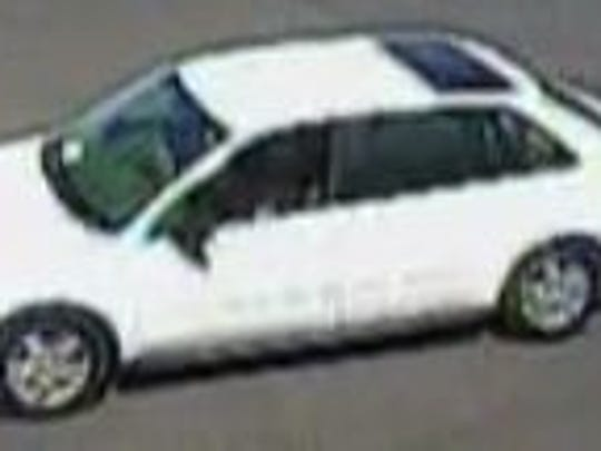 Surprise police provided a photo of the suspect's vehicle in a bank card fraud case