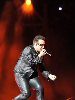 Bono of U2 performs at Vanderbilt University's Dudley