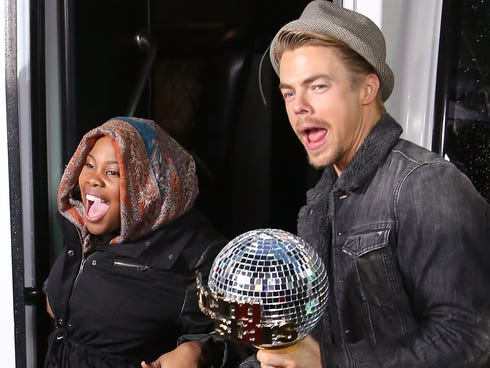 Champions Amber Riley and Derek Hough from Season 17 of