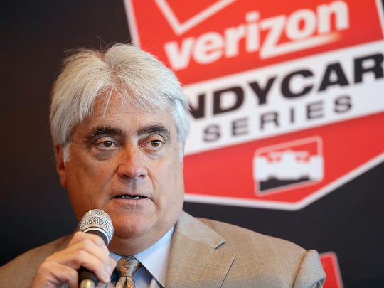 Mark Miles,  Hulman & Co. CEO, says an IndyCar-NASCAR double-header is just talk right now.