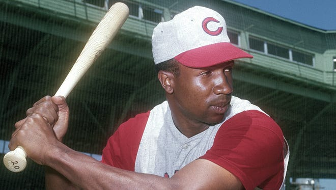 This is a March 1962 photo of National League Cincinnati Reds outfielder Frank Robinson.