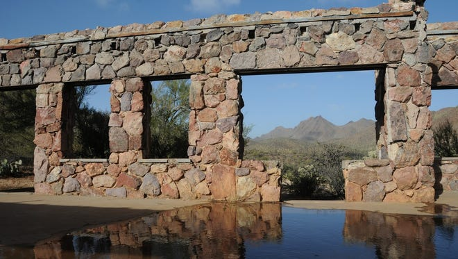 The stone remains of the Bowen homestead can be seen along the David Yetman Trail in the Tucson Mountains.