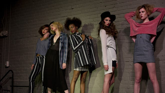 Models display fashions by Voyage Clothing at Anthem in Nashville Saturday, April 6 , 2013.  Steven S. Harman/Tennessean