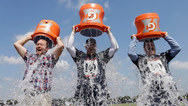 Everybody's doing it: fill a bucket and dump it over your head, then donate to an ALS charity. Use the hashtag #icebucketchallenge and post the video to social media.