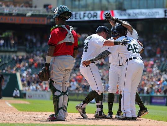 Detroit Tigers celebrate