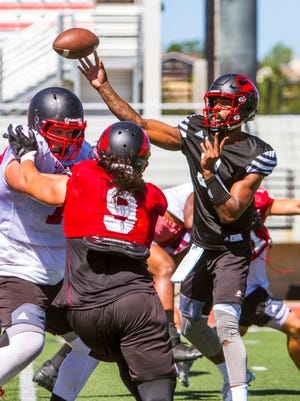 The Southern Utah football team practices on Thursday, August 10, 2017.