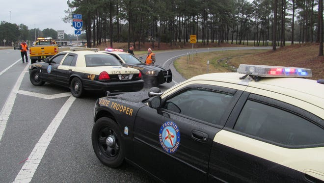 A 33-year-old Perry bicyclist was listed in serious condition at Tallahassee Memorial Hospital after he was struck by a sedan on Old Dixie Highway Thursday night.