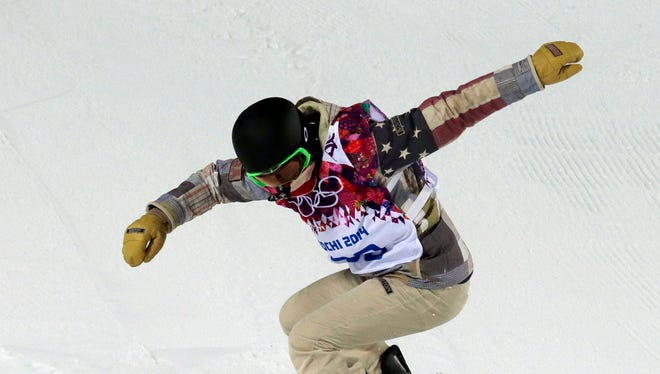 Shaun White trains in the half pipe at the Rosa Khutor Extreme Park at the Sochi Winter Olympics. He has been vocal about the half pipe's conditions.