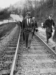 Robert F. Kennedy on a visit to Eastern Kentucky, Feb.