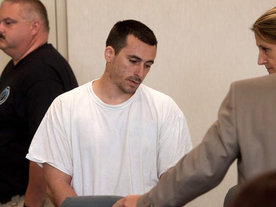 Josh Blow, 28, of Shelburne appears in  Vermont Superior Court Wednesday.