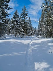 Richard Layne made tracks through deep snow in the